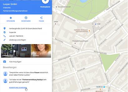 Google: Erfahrungsbericht über die Partnervermittlung Ukraine erstellen