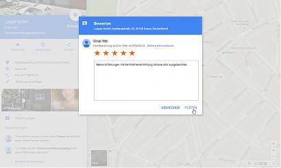 Google: Erfahrungsbericht über die Partnervermittlung Ukraine veröffentlichen