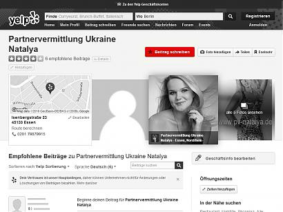 Yelp: Erfahrungsbericht über die Partnervermittlung Ukraine erstellen