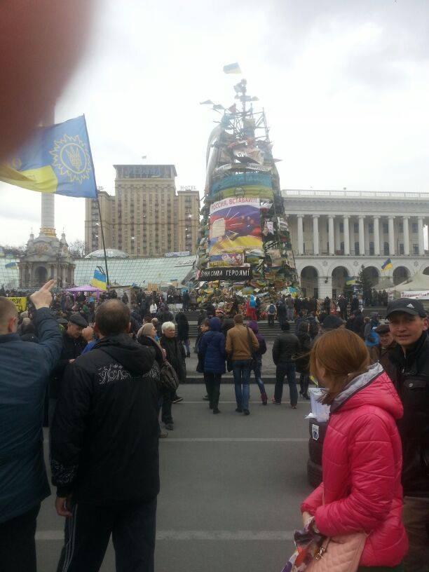 Kiew, Maidan-Platz, Ende März 2014